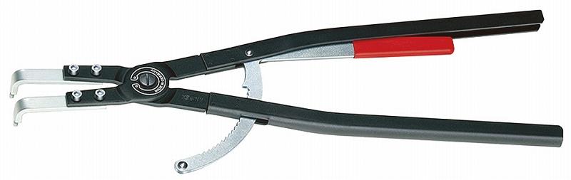 KNIPEX クニペックス 4420-J61 穴用スナップリングプライヤー 曲 対応内径(φmm):252-400 先端チップ径(φmm):4.5 全長(mm):600 質量(g):1723