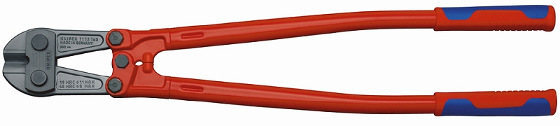 KNIPEX クニペックス 7172-760 ボルトカッター 切断能力(HRC19;φmm):11.0 切断能力(HRC40;φmm):9.0 切断能力(HRC48;φmm):8.0 刃長(mm):36.5 ヘッド厚さ(mm):42 全長(mm):760 質量(g):4250