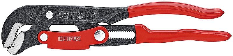 KNIPEX クニペックス 8361-015 パイプレンチ(スウェーデン型) つかみ能力(パイプ径;φinch):2.3/8 つかみ能力(パイプ径;φmm):60 全長(mm):420 質量(g):1470