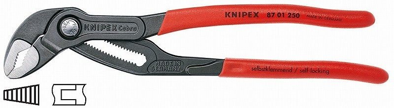 KNIPEX クニペックス 8701-250SB コブラ ウォーターポンププライヤー 250mm