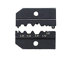 KNIPEX クニペックス 9749-50 圧着ダイス (9743-200用) 圧着能力(SWmm):3.25/4.52/5.41/1.72/1.07 圧着能力(AWG):3.9/5.4/6.4/2.1/1.3/0.95 質量(g):48