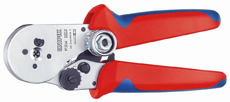 KNIPEX クニペックス 9752-64 圧着ペンチ クリンピング能力(mm2):0.08-2.5 クリンピング能力(AWG):28-13 質量(g):424