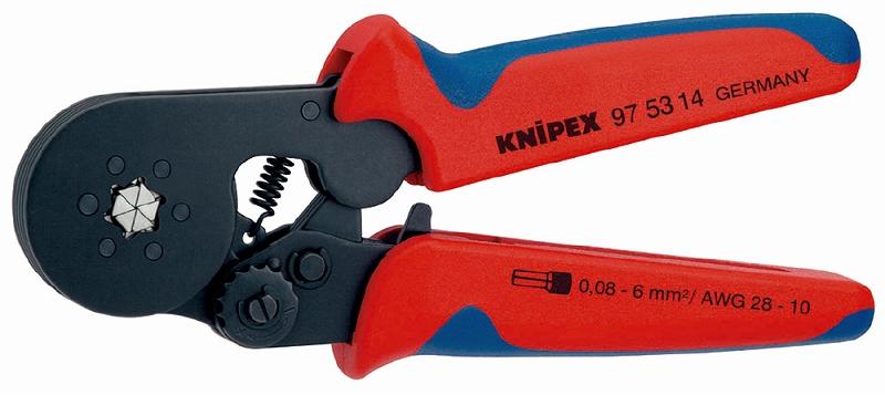 KNIPEX クニペックス 9753-14 ワイヤーエンドスリーブ圧着ペンチ (SB) クリンピング能力(mm2):0.08-10.0 クリンピング能力(AWG):28-7 質量(g):404