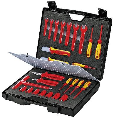 KNIPEX クニペックス 989912 絶縁工具セット 幅(mm):440 高さ(mm):385 厚み(mm):105 質量(g):5533