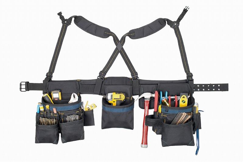 KUNY'S クニーズ AP-2617 腰袋両側ベルト 585×216×420mm 工具入れ