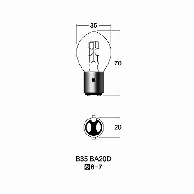 M&H マツシマ B-2313 12v45/40w B35 BA20D ケース 10個入り m&h 電球 バルブ