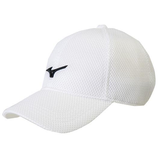 Mizuno Mizuno 32JW8100 corrugated cardboard mesh cap   hat unisex white X  black large size ac0b36a961dc