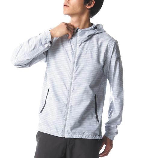 MIZUNO ミズノ A2ME8006 カスミプリント トレイルジャケット メンズ マイクロチップ Lサイズ