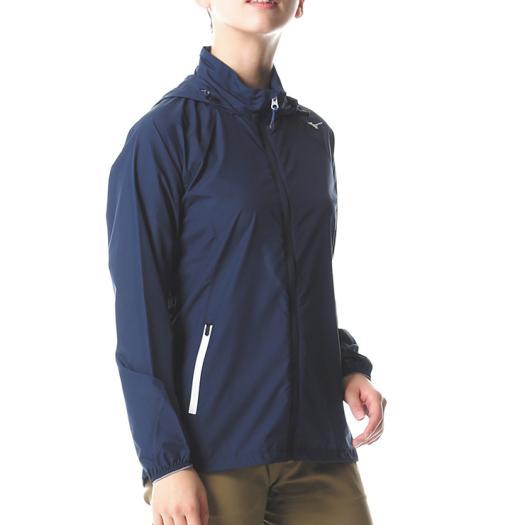 MIZUNO ミズノ A2ME8207 ベーシックトレイルジャケット レディース ドレスネイビー Lサイズ