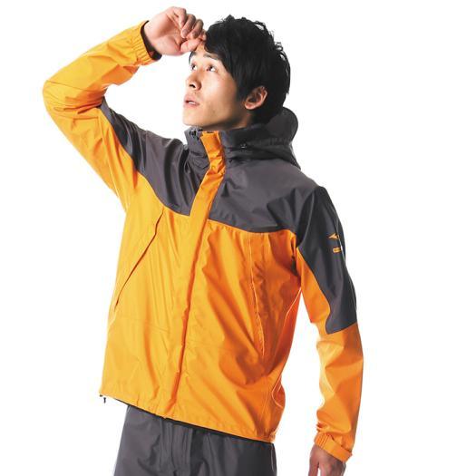 MIZUNO ミズノ A2MG8A01 ベルグテックEX ストームセイバーVI 撥水/レインスーツ メンズ オレンジ Lサイズ