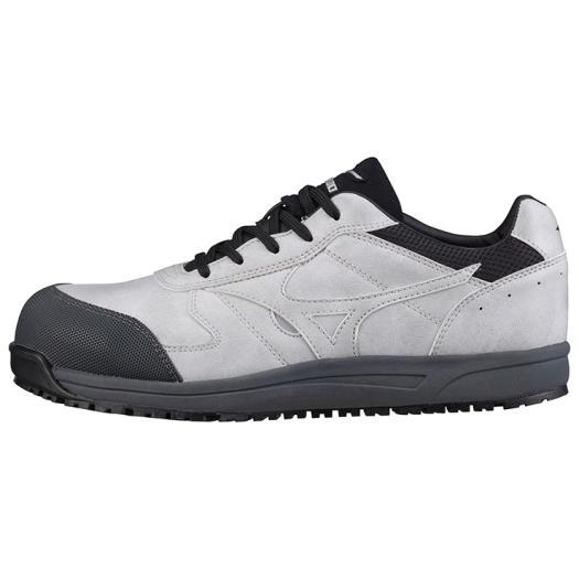 MIZUNO ミズノ C1GA1800 オールマイティWF/安全靴 作業靴 防水タイプ スニーカー メンズ グレー×ブラック 25.0cm