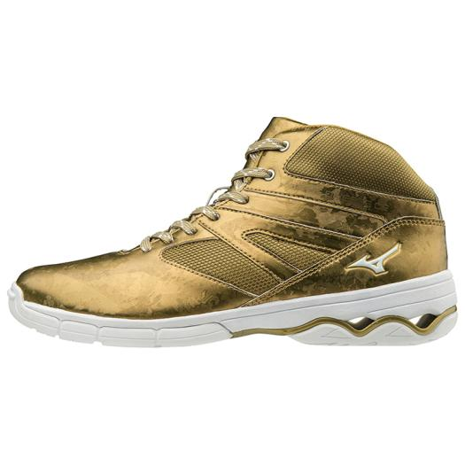 MIZUNO ミズノ K1GF1874 ウエーブダイバーズDE/ダンスエクササイズシューズ/靴 ユニセックス ゴールド 27.5cm