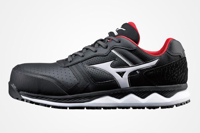MIZUNO ミズノ F1GA2000 オールマイティ HW11L 安全靴 作業靴 ワーキングシューズ ブラック×ホワイト 24.5cm
