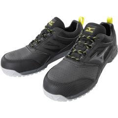 MIZUNO ミズノ F1GA2002 オールマイティ AS15L 紐タイプ 作業靴 安全靴 ワーキングシューズ ユニセックス メンズ/レディース 静電気帯電防止モデル ブラック×ダークグレー 26.0cm