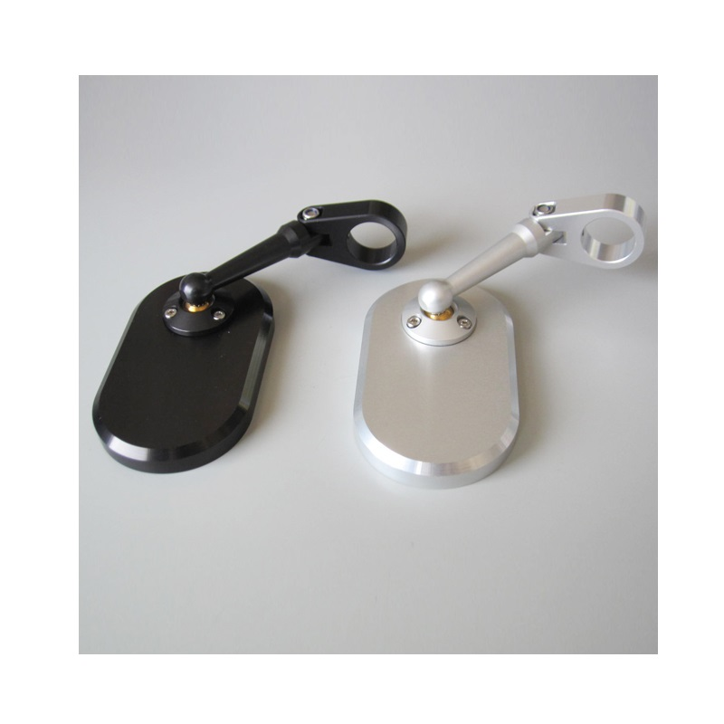 OBERON オベロン MIC-0878-S バーエンド・ミラー ハンドルクランプアジャストミラー オブロングタイプ 60×105 シルバー mic-0878-s