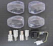 ODAX OXS-WYB002H バルブ/リレー関係 2カラー LEDウィンカーバルブ/レンズセット CB1300SF(03-05)/CB400SF(03-05)etc・・クリア Odax オダックス oxs-wyb002h