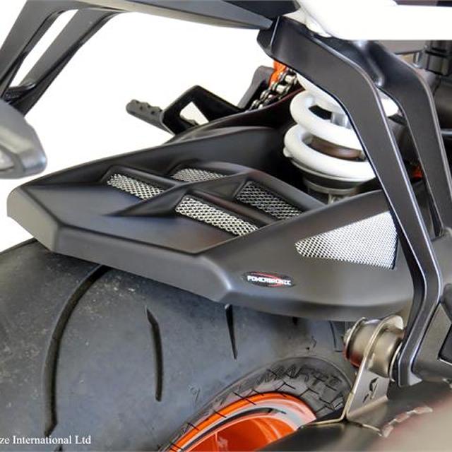 HUGGER 201-KT101-670 KTM 1290 SUPER DUKE R (15- ) マットブラック/シルバーM