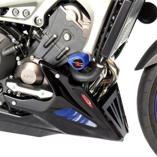 Power bronze パワーブロンズ 320-Y119-670 アンダーカウル MT-09 TRACER(15-) 純正スライダー対応 マットブラック/シルバーメッシュ