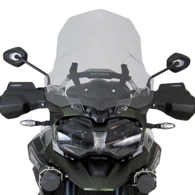 Power bronze パワーブロンズ 420-T112-001 アドベンチャースクリーン TRIUMPH TigerEXP (16- ) ライトスモーク