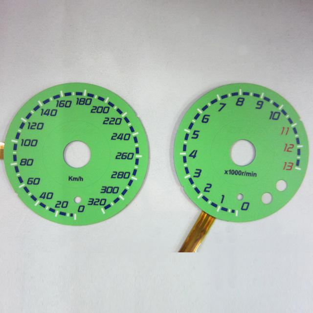 ODAX オダックス OXP-311047-H9G ELメーターパネル ZX-14R(12- ) グリーンパネル
