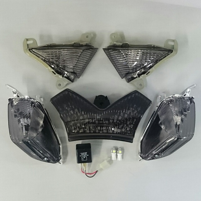 ODAX オダックス OXS-ZX1441-SF-I LEDスモークレンズ コンプリートキット ZX-14R/ZX-14/ZZR1400 (インテグレートテールタイプ)