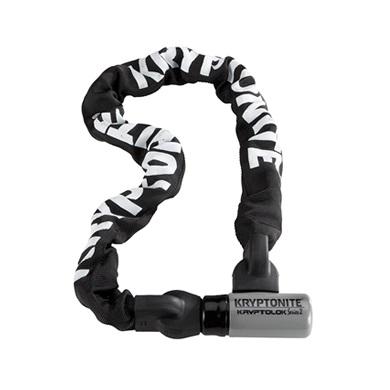 クリプトナイト 000846 クリプトロック2 インテグレイテッドチェーン チェーンロック ケーブルロック 9.0mm×1500mm ロック 鍵 防犯 盗難防止