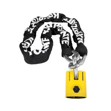 クリプトナイト 999508 ニューヨークレジェンドチェーン&ニューヨークパッドロック チェーンロック ケーブルロック 900mm 4600g ロック 鍵 防犯 盗難防止