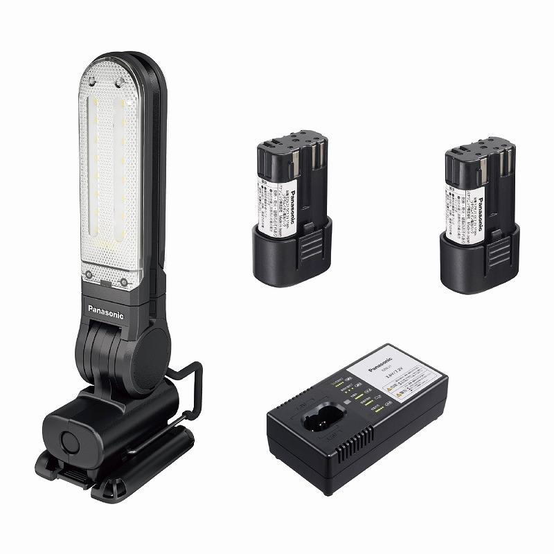 パナソニック EZ3720LA2S-B 工事用充電LEDマルチライト 7.2V LAタイプ電池セット マグネットベース付 125×257×49mm 黒 ブラック コードレス