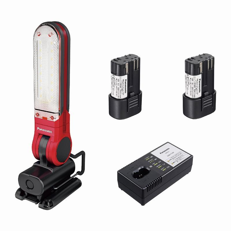 パナソニック EZ3720LA2S-R 工事用充電LEDマルチライト 7.2V LAタイプ電池セット マグネットベース付 125×257×49mm 赤 レッド コードレス