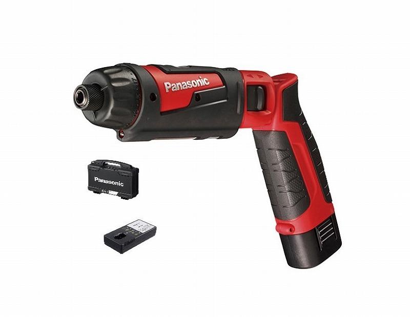 パナソニック EZ7421LA1S-R 充電スティックドリルドライバー 7.2V 1.5Ah 充電器 電池1パックセット 243×147×46mm 赤 レッド