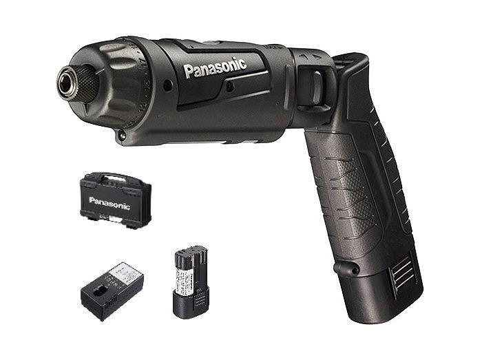 パナソニック EZ7421LA2S-B 充電スティックドリルドライバー 7.2V 1.5Ah 充電器 電池2パックセット 243×147×46 黒 ブラック