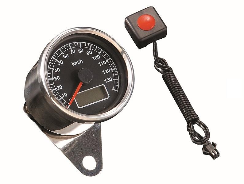 POSH Faith ポッシュフェイス 100014-96 LEDバックライトミニスピードメーターステッピン ワイヤー式スピードメーター車対応 ブラックパネル