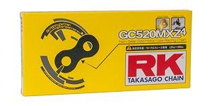 RK GC520MXZ4130 ドライブチェーン 130リンク レーシングゴールド バイク用品 チェーン