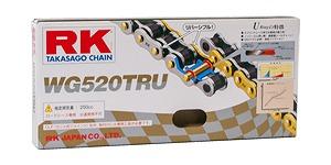 RK WG520TRU110 ドライブチェーン 110リンク ゴールド×シルバー バイク用品 チェーン