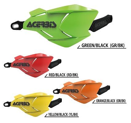 ACERBIS アチェルビス AC-22397GR/BK X-FACTORY ハンドガード グリーン/ブラック