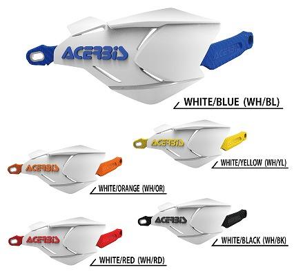 ACERBIS アチェルビス AC-22397WH/BL X-FACTORY ハンドガード ホワイト/ブルー