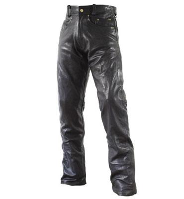 ラフ&ロード R&R RA5001LFBK3 ストレートレザーパンツ ルーズフィット LWサイズ ブラック パンツ