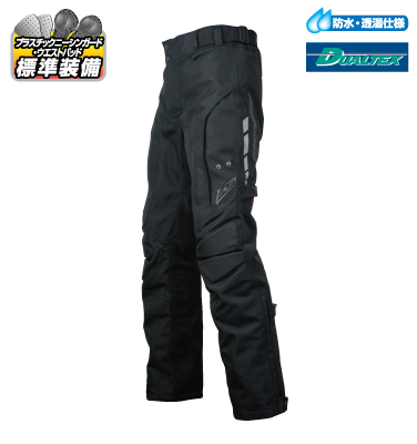 ラフ&ロード R&R RR7470BK5 デュアルテックスハードツアラーパンツ XLサイズ ブラック パンツ