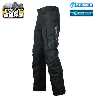 ラフ&ロード R&R RR7470BKB3 デュアルテックスハードツアラーパンツ BLサイズ ブラック パンツ