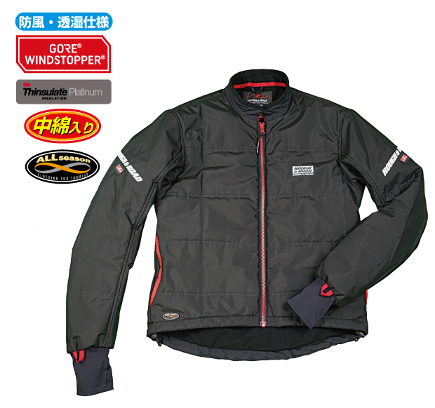 ラフ&ロード R&R RR7978BK3 ゴアウインドストッパーウォームインナージャケット Lサイズ ブラック ジャケット