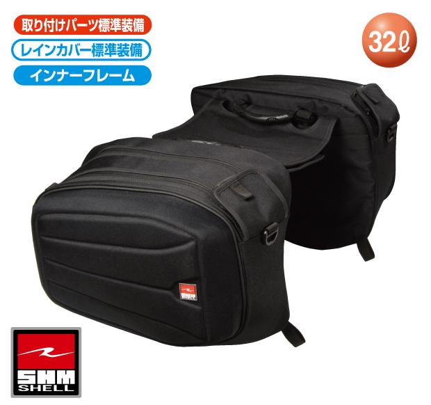 ラフ&ロード R&R RR9106BK SHMサイドバッグ ブラック バッグ