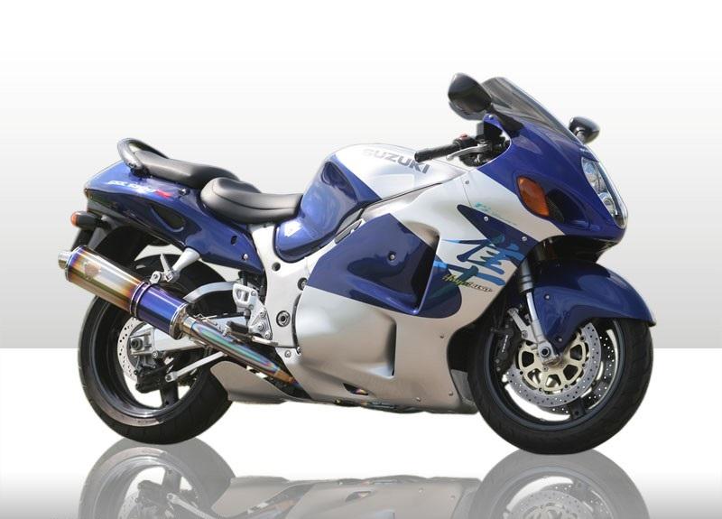 アールズギア rs gear WS02-03OD ワイバン スリップオンタイプマフラー チタンオーバルドラッグブルーサイレンサー GSX1300R隼 ハヤブサ マフラー