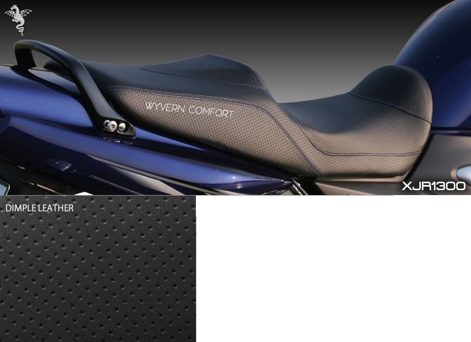 アールズギア rs gear CY01-DP00 ワイバンコンフォートシート ディンプルタイプ 表皮:黒/ステッチ:青 シート XJR1300