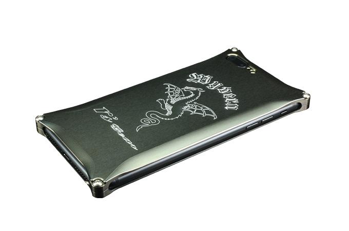 アールズギア rs gear XXSP-0005-PB ワイバン スマートフォンケース スマホケース iPhone7 Plus アイフォン7プラス対応 プラチナブラック