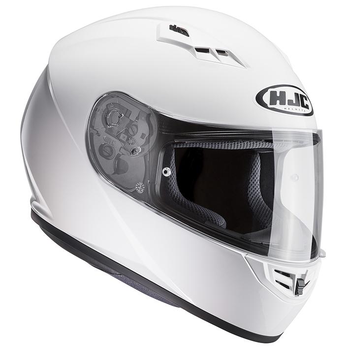 RSタイチ HJH113 HJC CS-15 ソリッド フルフェイスヘルメット ホワイト Lサイズ 59-60cm ヘルメット