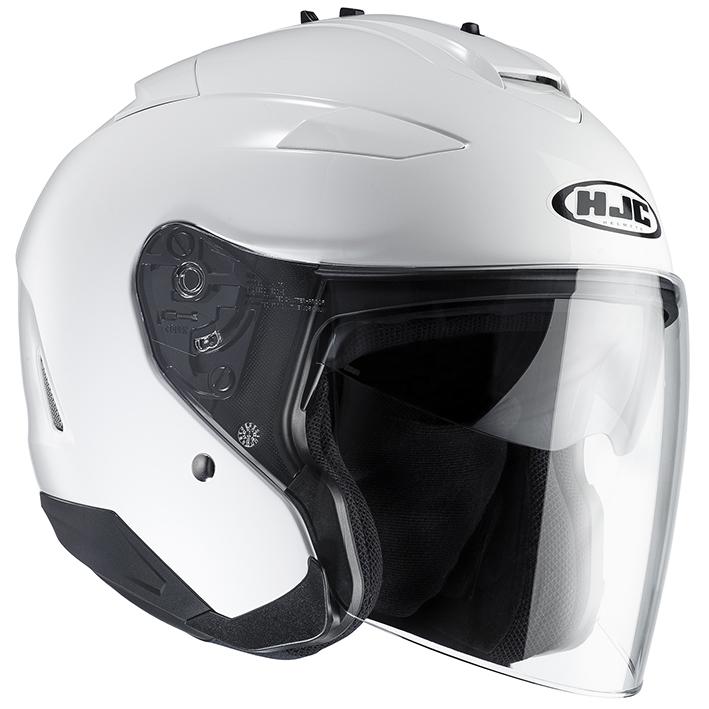 RSタイチ HJH120 HJC IS-332 ソリッド オープンフェイスヘルメット ホワイト Sサイズ 55-56cm ヘルメット