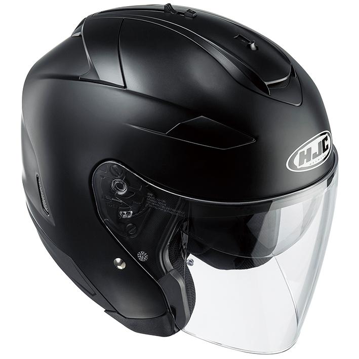 RSタイチ HJH120 HJC IS-332 ソリッド オープンフェイスヘルメット セミフラットブラック Mサイズ 57-58cm ヘルメット