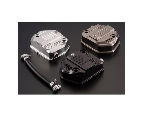 シフトアップ 201001-03 オイルシャワービレットヘッドカバーシルバー エイプ50-100/XR50-100/NSF100 シフトアップ 201001-03