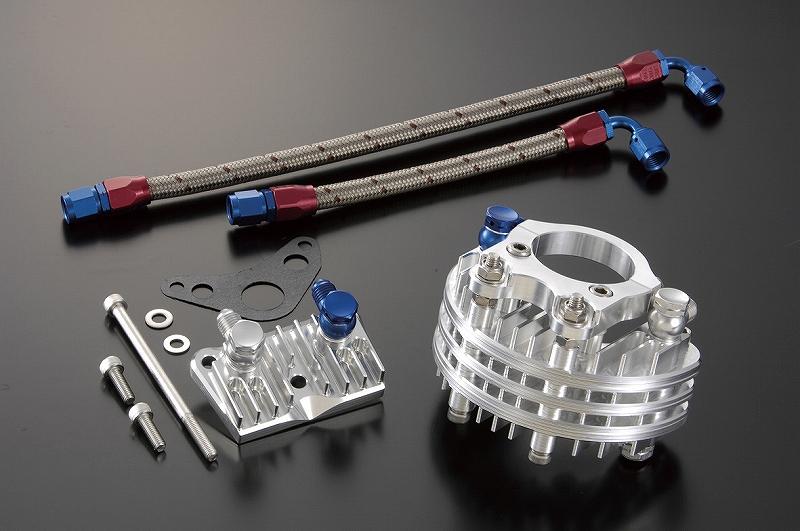 シフトアップ 205041-03 ビレットオイルクーラー 3段コア単体 シルバー モンキー シフトアップ 205041-03