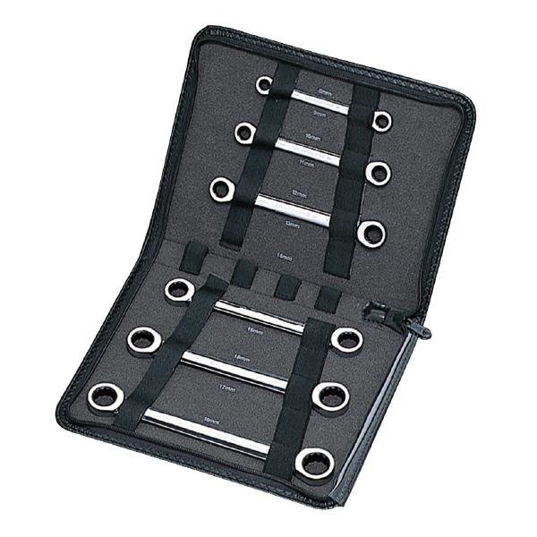 SIGNET シグネット 34558 6PC メガネ ギアレンチセット (MM) ギア数:72(8mmは60) ミラー仕上げ